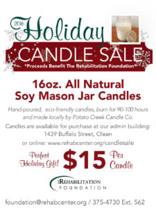 Holiday Candle Sale The Rehabilitation Center
